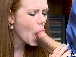 Ella Hughes torn up pouch deep by ultra-kinky mall cop