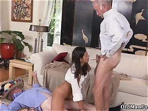 senior and youthfull string on very first time This time they get to pummel a fiery latina.