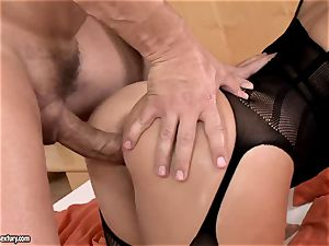 big-boobed stunner Aletta Ocean with large arse gets yam-sized cock in her cooch