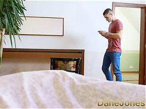 Dane Jones huge globes asian cheating behind his back
