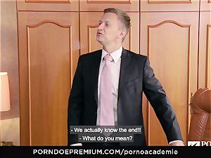 porn ACADEMIE Lana Rhoades enjoys fuckin' French wood
