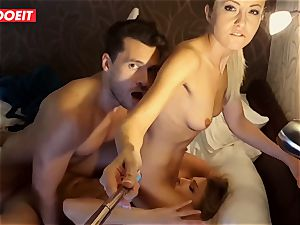 Russian honey gets professional orgy to help her sleep