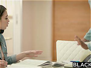 BLACKED smallish Riley Reid tries ample black man-meat In Her bum