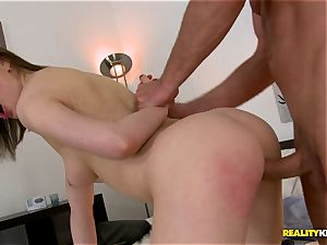 pink honeypot Tina Kay bends over and gets plowed doggy-style style