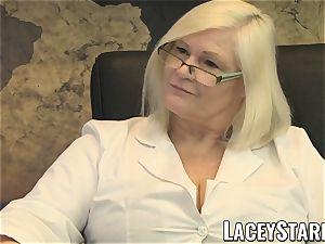 LACEYSTARR - GILF slurps Pascal white jizz after hookup