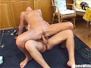 platinum-blonde Stepmom opening up For Her naughty Stepson