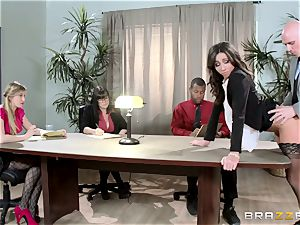 new woman Stephani Moretti crammed with spunk at work