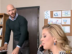 milf manager Cherie Deville gets shafted by a hefty dicked worker
