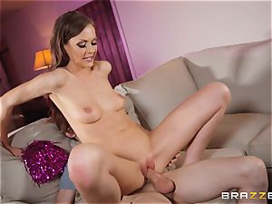 Tina Kay inserted in her cock-squeezing pussy