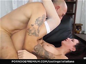 audition ALLA ITALIANA - new-cummer ass fucking gape and boink