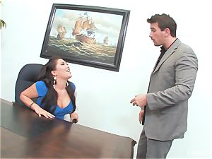 chinese sweetheart London Keyes gets an office plow