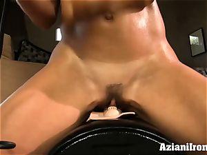 Brandi love rails the sybian saddle naked