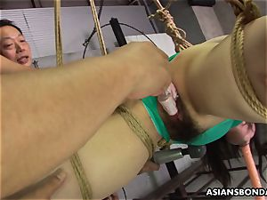 chinese strapped up to be sexually tantalized by some pervs