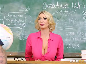 ample boobed educator Leigh Darby classroom pulverize