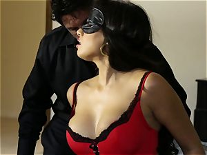 buxomy latina Mercedes Carrera screwed in her taut raw cooch