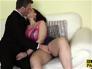 curvaceous brit fingerfucked rough after oral