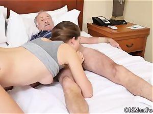 old man bangs nymph presenting Dukke