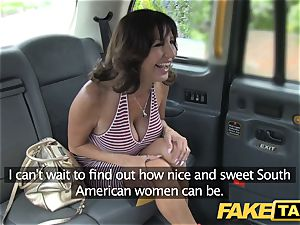 fake cab handsome mummy with giant globes does ass fucking