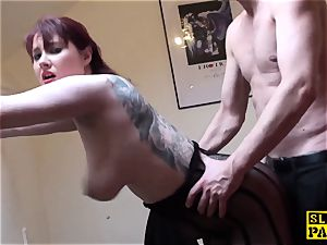 huge-titted british ginger-haired predominated with roughsex
