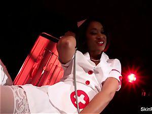 super steamy nurse skin Diamond gives a wondrous tease