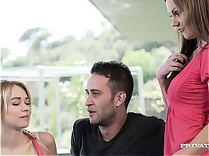Persuasive Tina Kay dirty chats a couple into hot anal invasion 4some