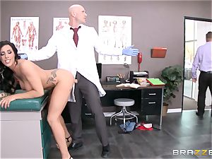 Austin Lynn bangs the doc in front of her stud