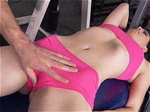 Gym honey Casey Calvert loving her exercise