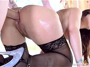 Maid Syren Demer is porked and fisted in the ass