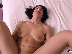 guiltless dark haired milf cuckold internal ejaculation fantasy