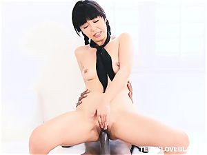 Marica Hase getting her nubile slit spread by a ebony fuck-stick