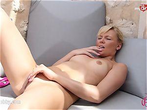 MyDirtyHobby - scorching blonde jerking outdoor!