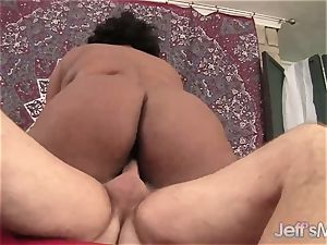 black plumper Marliese Morgan vs milky trunk
