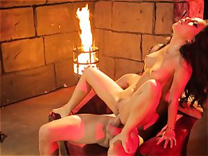 Asa Akira gets her steamy lips lush a phat long meatpipe