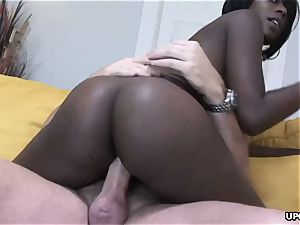 pinkish snatch wedged doggy fashion in a supreme interracial