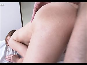 lubed up fabulous Raylin Ann filled balls deep