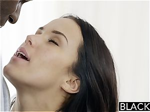 BLACKED Megan Rains first-ever practice With immense ebony manmeat Part 1