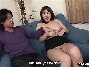 chinese bone dicksucker has a pair of dicks to gargle on
