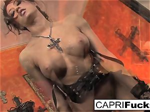 Capri showcases off her pretty feet
