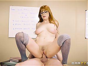 Classroom jizm act with insane redhead teacher Penny Pax
