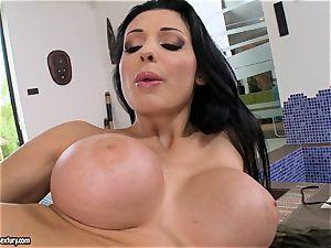 luxurious torrid Aletta Ocean pounds her fuck hole deeper with an incredible plaything schlong