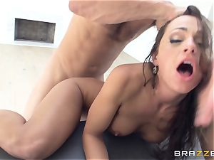 filthy lady Abigail Mac gets smashed in the kitchen