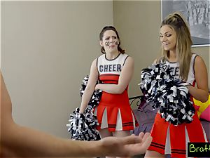 nubile cheerleader plumbs her stepbrother