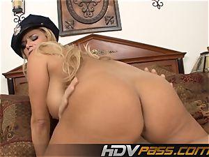 ash-blonde Cop Getting Her gash beaten