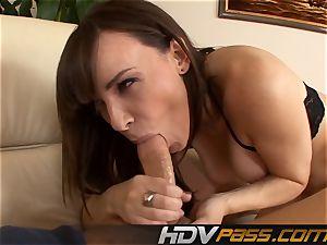 Deep backside gobbling with black-haired Dana Dearmond