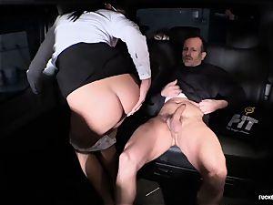 porked IN TRAFFIC - Czech dark-haired loves scorching car intercourse