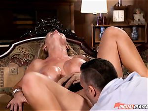 Nikki Benz beaten firm in the chased mansion