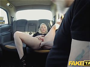faux cab light-haired milf Victoria Summers ravaged in a cab
