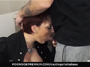 audition ALLA ITALIANA Mature ginger-haired booty boned deep
