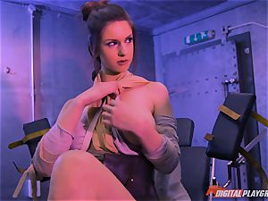 Stella Cox cooter hammered by a space agent