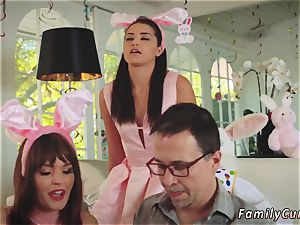 Family jerks daddy ally comrade s daughter-in-law and step porks his Uncle nail Bunny